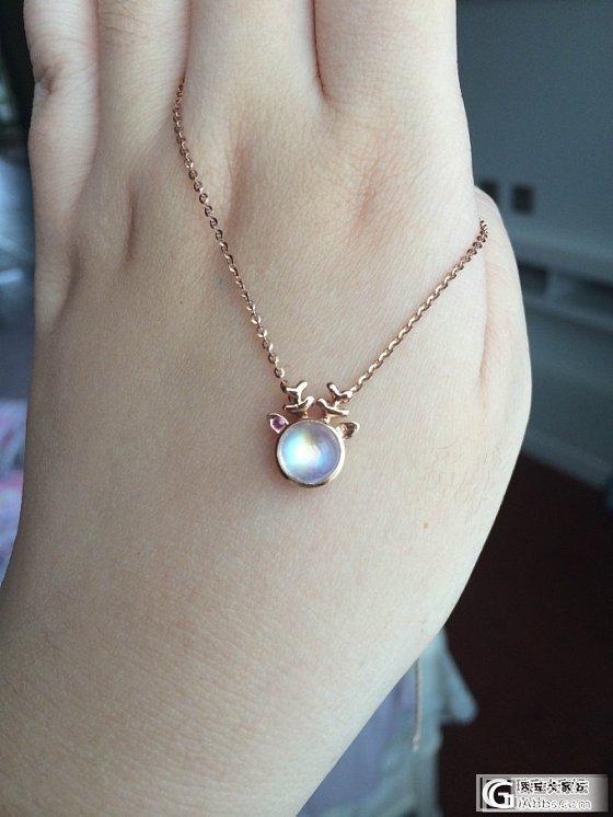 小鹿月光项链,萌神~_月光石