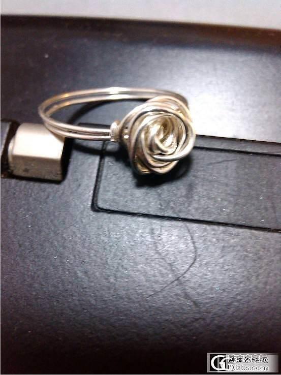 999纯银丝玫瑰戒指_工艺