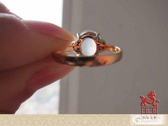 筹米转翡翠白蛋戒指、飘蓝花戒指、蓝水蛋面、木那荧光豆_翡翠