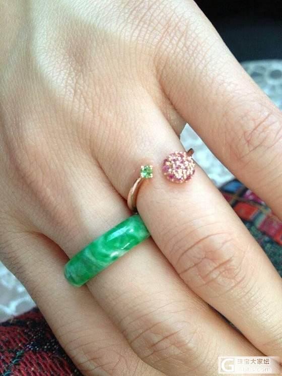 晒几个宝贝_松石花件蜜蜡南红戒指传统玉石