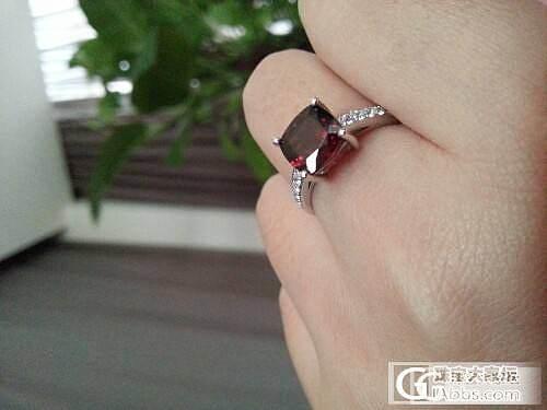 石榴石戒指还图_石榴石戒指珠宝