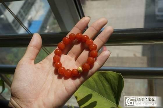 晒我的南红手串们~~~柿子 联合 冰飘 小米珠~~_南红
