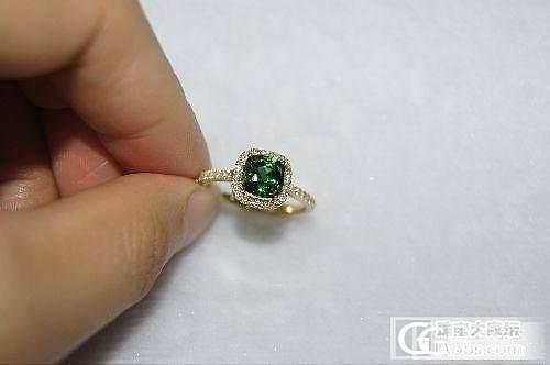 绿碧玺两枚~~火彩很好~~无瑕级别  分别为7.67和10.47克拉   各位鉴赏哈~~……&%%_镶嵌珠宝