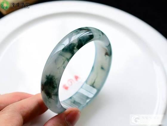 【平生翡翠】140517004 冰种蓝花手镯 售价:65000元_平生翡翠
