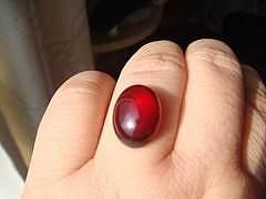 石榴石戒面一个,求镶嵌款式。。。_珠宝