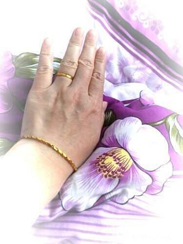 劳动节戴的_手链戒指金