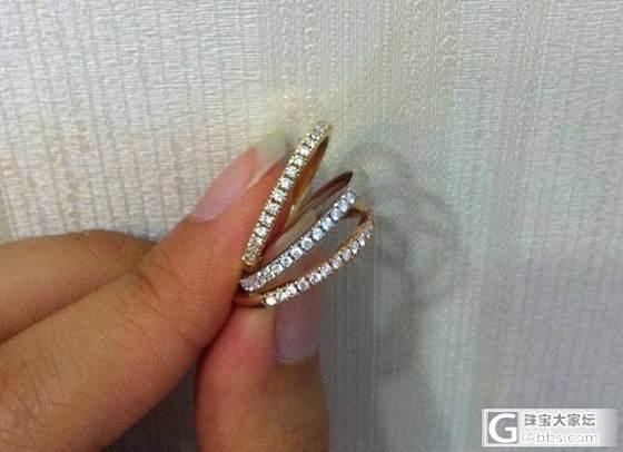 求一个tiffany款式 15#或者16#的排戒_钻石