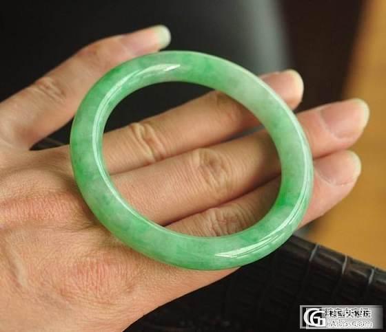 几乎满色的圆条手镯   内径52.5mm  (已售)_翡翠