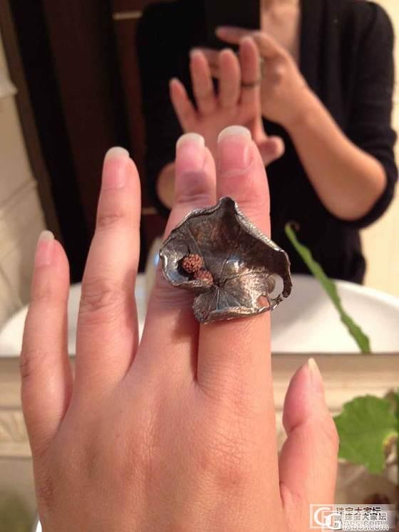 新人报道,秀个自己做的戒指_戒指银