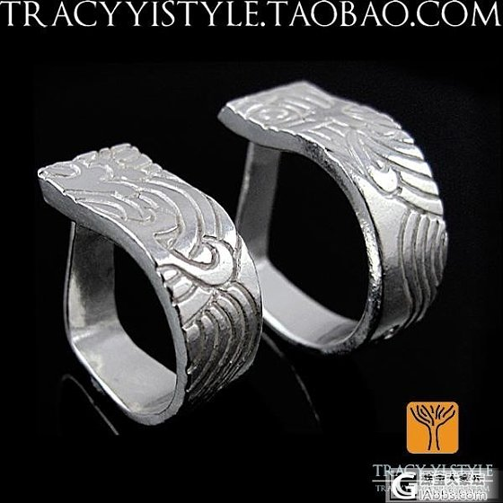 他送我的一只手工银戒指_戒指银