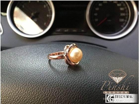 18K玫瑰金 用金10.9克 质感十足 南洋海水金珠11MM 设计大气简约_宝石