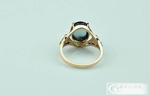 晒碧玺-蓝色素面的戒指_碧玺刻面宝石
