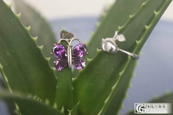我的地摊——粉晶大吊坠、紫水晶蝴蝶吊坠_宝石