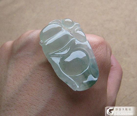 【美心】10月25日新货---纯蓝水水滴、冰种绿花马眼、四个佛公_翡翠