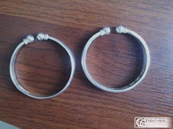 新买的蒜头银镯子_手镯银