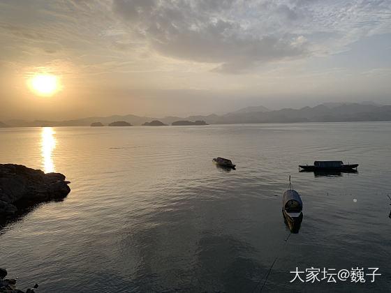 千岛湖晚霞景色还蛮好的,周末休闲好去处,散心散心_景色