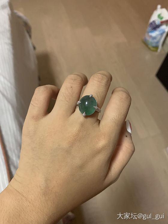 朋友的戒指收到了,果然巨丑_镶嵌