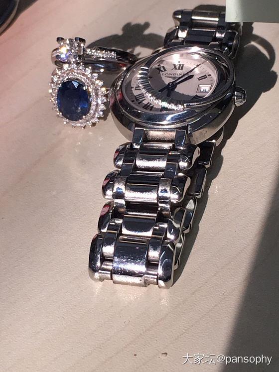 今年工资外所得买的,晒一晒_浪琴戒指钻石