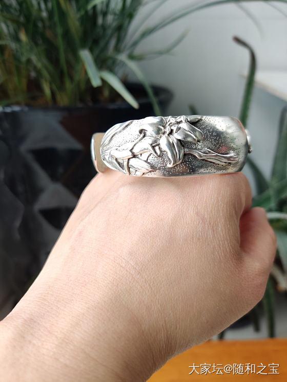 又买了三个银镯子_手镯银
