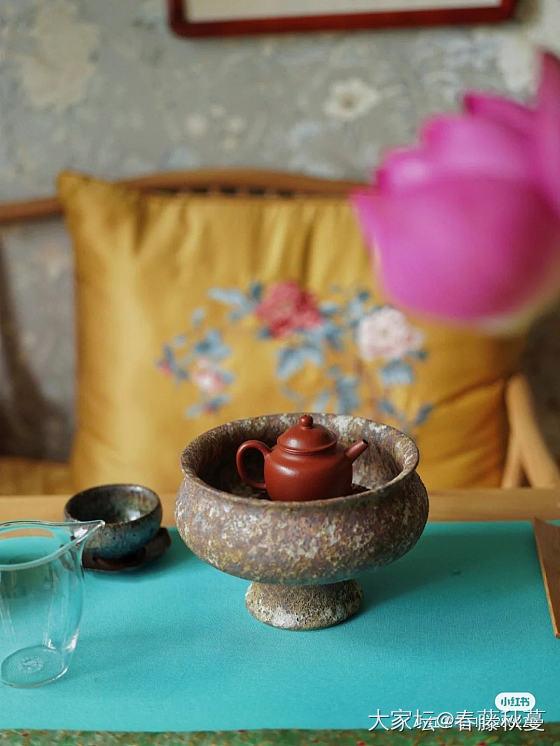 最近淘了好多萌萌的盘子做壶承,有趣的很,喝夜茶也美美的_文玩
