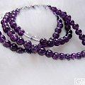 两条108颗6.5mm紫水晶佛珠手链