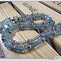 大家都来看看—我的男女款 海蓝宝  18K+吊坠+项链(自己设计)