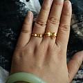 大小蝴蝶结戒指,哪个好看,求闪闪