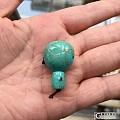 高磁绿松石 桶珠 三通 隔片