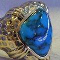 """(世界名矿松石)之""""坎德拉瑞""""高瓷釉电光蓝,等待数月,终见实物之美"""