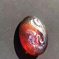 缅甸棕珀雕件,工笔细腻