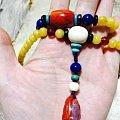 自己设计的蜜蜡项链前后可以戴出两种款式