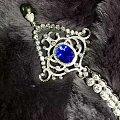 晒一晒新定的蓝宝豪镶项链,自己的创意。