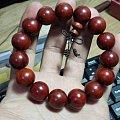 小叶紫檀1.5手串,高油密带星带鱼鳞纹