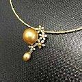 韩国工艺金珠项链,特别美的设计!