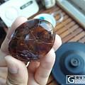 自雕缅甸棕红飘蜜小件,锦鲤吐珠