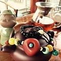 设计的完美紫红老蜜蜡四通项链,收藏精品!好喜欢!大家来评论一下。