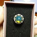 10mm多米尼加蓝珀珠戒