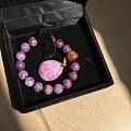 转腰围10.7的紫色舒俱来手链