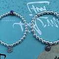 团的小银珠,编了两条手链