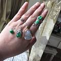 晒晒15年历史的小东西和祖母绿,反正都是绿色