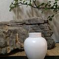国美陶瓷专业朋友做的茶叶罐,纯手工柴窑