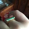 新鲜出炉的小戒指,哈哈,好喜欢