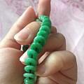 (色货)大降价一天,为败新欢大亏出翡翠满绿平安扣手链,翡翠紫罗兰手链
