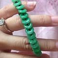 大亏转天然A货翡翠满绿平安扣手链手串
