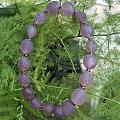 出闲置 纯天然紫罗兰玛瑙手链新疆戈壁筋脉手钏