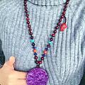 紫龙晶毛衣链 好看不