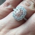 粉钻戒指星光红宝戒指还图