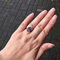 展会上买的欧泊2.6ct做的戒指,大家帮我看看