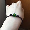 「玉知音」出一个自己做的翡翠平安扣手绳