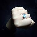托帕石戒指,做得有一点点崩溃